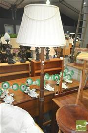 Sale 8272 - Lot 1089 - Turned Timber Standard Lamp