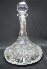Sale 8298 - Lot 36 - An English lead crystal ship's decanter. Ht: 28cm