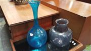 Sale 8383 - Lot 1054 - Signed Art Glass Jardiniere and Vase