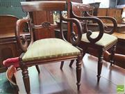 Sale 8428 - Lot 1065 - Set of Six George IV Mahogany Railback Chairs