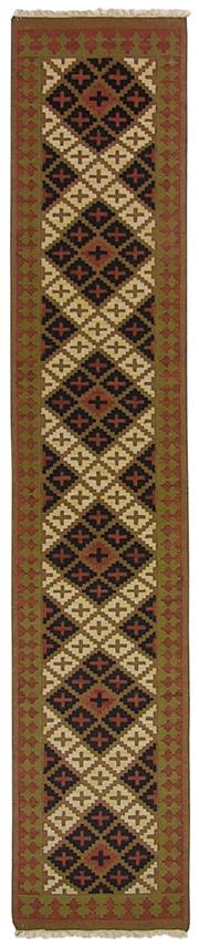 Sale 8725C - Lot 29 - An Indian Flatweave Runner, Hand-knotted Wool, 425x80cm, RRP $1000