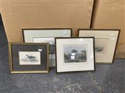 Sale 9061 - Lot 2064 - Various Artists (4 works) Mount Toma NSW, Richmond Church & Rectory, St Pauls Church Melbourne, Common Gallinule, engravings, vari...