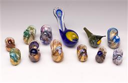 Sale 9119 - Lot 71 - A collection of Isle of Wight art glass bird ornaments