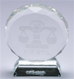Sale 9148 - Lot 70 - A post modern crystal libra paperweight, (H:9.5cm)