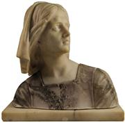 Sale 8008 - Lot 20 - Marble Bust of Lady