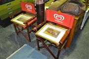 Sale 8013 - Lot 1089 - Pair Foldout Streets Chair