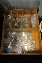 Sale 8362 - Lot 276 - Box of Various Coins, Notes & Stamps