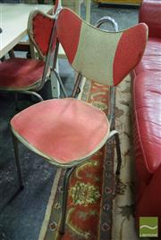 Sale 8532 - Lot 1351 - 5 Red & white Dining Chairs