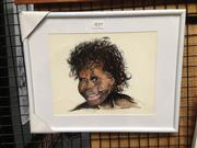 Sale 8767 - Lot 2019 - Greg Lipman, Aboriginal Boy, ink and gouache, frame size: 29 x 36cm, signed lower right