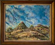Sale 8810A - Lot 5031 - Vic OConnor (1918 - 2010) - A Showery Day - The Approaches to the Warrumbungles, 1982  59 x 74cm