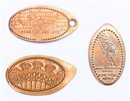 Sale 9153 - Lot 87 - A group of three vintage tokens, including the Scenic Railway and Melbourne Gaol,