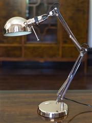 Sale 8222 - Lot 95 - An angle poise bedside lamp with brush chrome finish