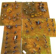 Sale 8330T - Lot 84 - Five Battlefield Boards of Lead Soldiers; handpainted