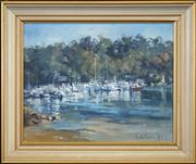 Sale 8459 - Lot 502 - Pamela Thalben-Ball (1927 - ) - Pittwater Scene, 1975 40 x 50cm