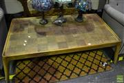 Sale 8472 - Lot 1019 - Timber Parquetry Coffee Table