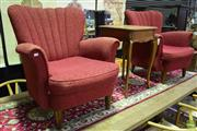 Sale 8566 - Lot 1735 - Pair of Art Deco Lounge Chairs