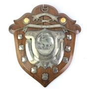Sale 8793 - Lot 55 - Shire Billiards Shield 1911. An Australian made trophy shield for the St George District 1911, Inter-Institute Billiards Championship.