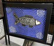 Sale 9050 - Lot 2032 - Roslyn Anderson, Fish Dreaming, acrylic on canvas, frame: 47 x 58 cm