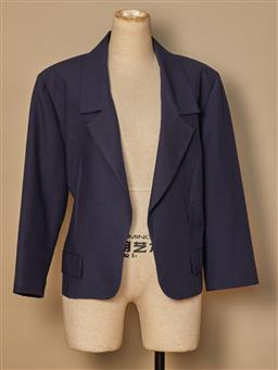 Sale 9093F - Lot 63 - A Gaulitier tailored navy jacket with three quarter length sleeves, size medium