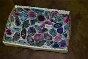 Sale 7987A - Lot 1029 - Box Of Colourful Geodes