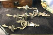 Sale 8081 - Lot 62 - Rococo Style Pair of Brass Wall Brackets