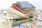 Sale 8529 - Lot 124 - Old Stamp Album With Box Of Pre Decimal Stamps & Reference Books