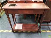 Sale 8611 - Lot 1027 - Timber Hall Table