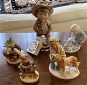 Sale 8510A - Lot 48 - A group of five figurines including Gullivers World by G Armani Goebels signs of spring etc, the tallest H 20cm