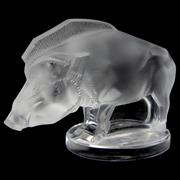 Sale 8372 - Lot 81 - Lalique Boar