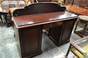 Sale 8500 - Lot 1029 - C19th Cedar Sideboard with Low Shaped Back, Freeze Drawer and Two Shaped Panel Doors