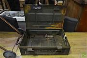 Sale 8542 - Lot 1087 - Vintage Rustic Ammo Box with Tools