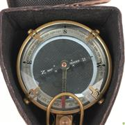 Sale 8562R - Lot 241 - Spencer & Co. Compass in Leather Case (L: 11.5cm)