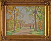 Sale 8810A - Lot 5015 - Charles Wheeler (1881 - 1977) - An Afternoon Stroll 29.5 x 39.5cm