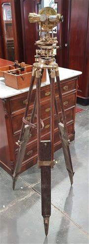 Sale 8951P - Lot 303 - Cooke Trough and Simms Vintage Brass Theodolite on Original Tripod with Carry Case