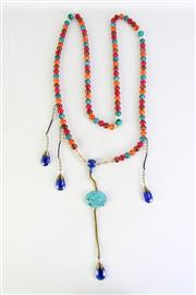 Sale 8940T - Lot 677 - Chinese beaded necklace, 80cm