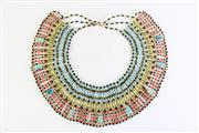 Sale 8944M - Lot 26 - Vintage Egyptionesque Glass Beaded Collar,