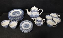 Sale 9254 - Lot 2220 - Part Myott Country Life, Tea Wares in Blue & White