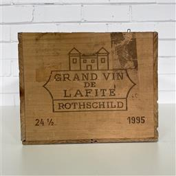 Sale 9257W - Lot 985B - French Timber Wine Box for 1995 Chateau Lafite-Rothschild