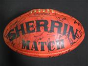 Sale 8125 - Lot 6 - Sherrin Match AFL Football - signed by Paul Roos and Sydney Swans