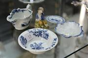 Sale 8276 - Lot 15 - 18th Century English Ceramics incl. Dr Wall, Caughley (Some faults)