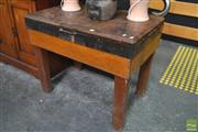 Sale 8277 - Lot 1004 - Vintage Butchers Chopping Block