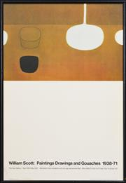 Sale 8296A - Lot 43 - William Scott (1938 - 1931) - Still Life Brown with Black Note, 1969 75.5 x 50cm