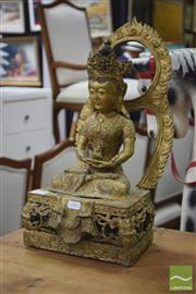 Sale 8311 - Lot 21 - Gilded Buddha Figure Seated in the Lotus Position