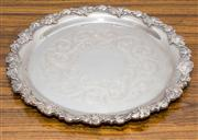 Sale 8308A - Lot 198 - A Hecworth silverplate circular tray with grape and vine border.