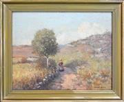 Sale 8325A - Lot 139 - Francis Wilson (1876 - 1957) - Country Stroll 34.5 x 44.5cm