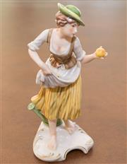Sale 8341A - Lot 96 - A Hummel figure of a peasant girl, H 20cm