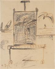 Sale 8813 - Lot 524 - Arthur Boyd (1920 - 1999) - The Artists Easel 32 x 27cm