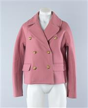 Sale 8800F - Lot 76 - A pink wool blend double breasted cropped pea coat in pink by J Crew, size US 4