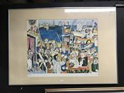 Sale 9016 - Lot 2096 - Giovannie De Simone The Wedding 1980 lithograph ed. 188/1000, 71.5 x 100cm (frame) signed and dated