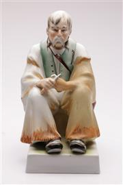 Sale 9044 - Lot 76 - Zsolnay Hungarian Figure Of A Gentleman h: 35cm
